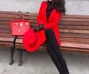 red, bag, and black image