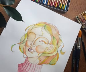 art, drawing, and artist image