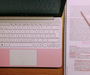 aesthetic, laptop, and notes image