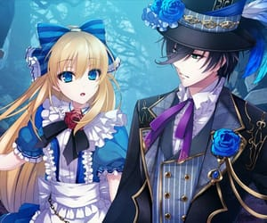 anime, fantasy, and tea party image