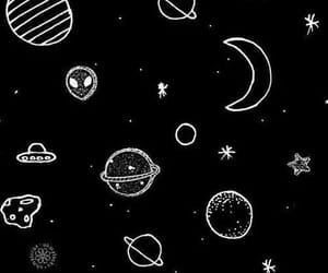 planet, stars, and universe image