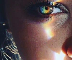 eyes and rainbow image