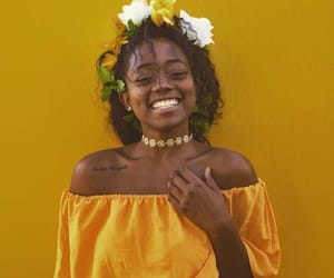 yellow, flowers, and smile image