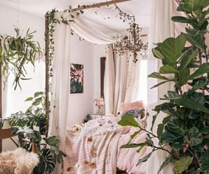 plants, bedroom, and room image