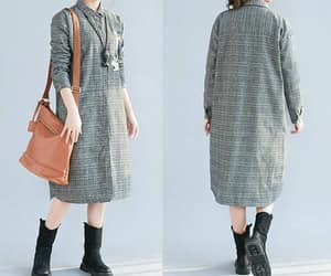 etsy, gray dress, and plaid dress image