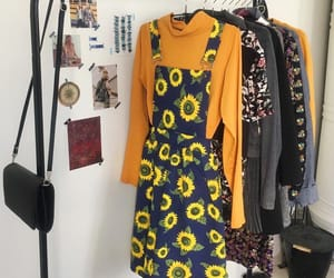 fashion, style, and sunflower image