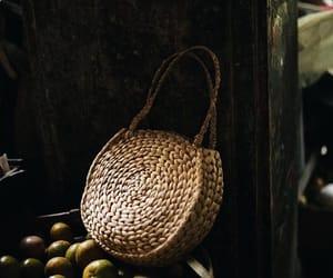 bag, basket, and boho image