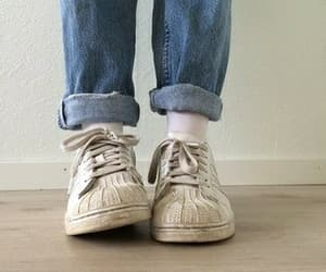 adidas, jeans, and grunge image