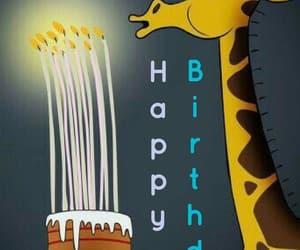 happy birthday, velas, and jirafas image