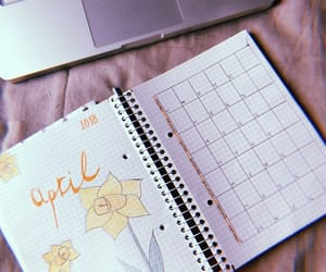 agenda, april, and daffodils image