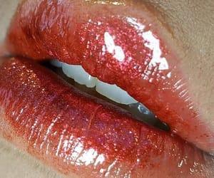 lips, glitter, and makeup image
