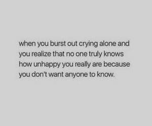 alone, crying, and know image
