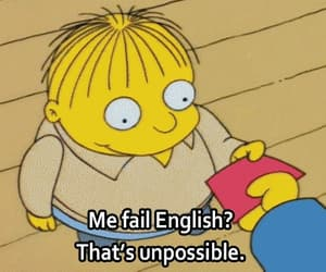 the simpsons, fail, and english image