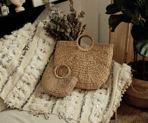 bag, basket, and boho image