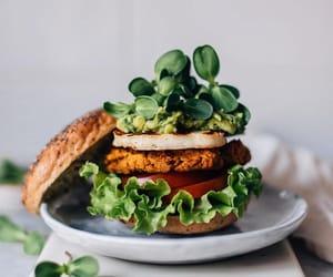 avocado, burger, and cheese image
