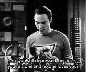the big bang theory, sheldon, and alone image