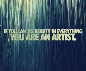 artist, beauty, and quote image