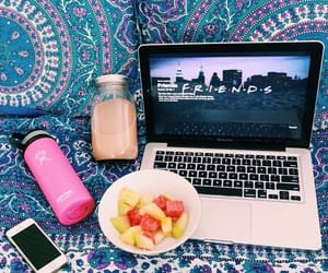 friends, summer, and fruit image