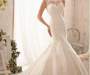 bridal, white, and Swarovski image