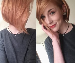 apricot, bob, and hair image