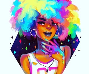 Afro, girl, and art image
