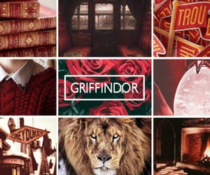 harry potter, red, and poudlard image