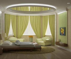 bedrooms, bedroom designs, and curtains image