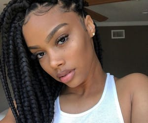 beauty, melanin, and braids image