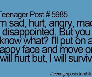 angry, teenager post, and hurt image