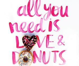 donuts, love, and food image
