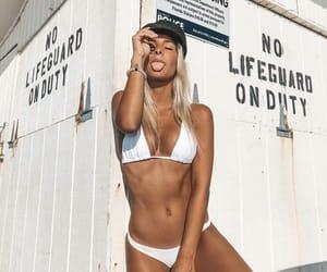 beach, white, and girl image
