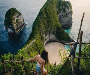 bali, beaches, and girl image
