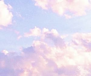 pastel, blue, and clouds image