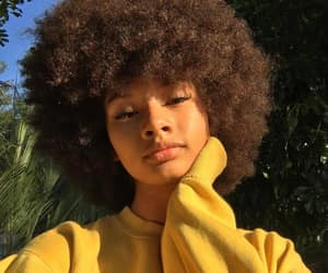 hair, Afro, and makeup image