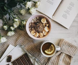 aesthetic, books, and breakfast image
