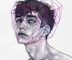 art, beautiful, and boy image
