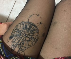 millenium falcon, star wars, and tattoo image