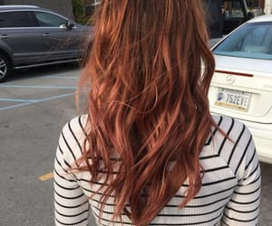 hair, auburn, and girl image