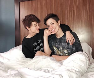 gay, bed, and couple image