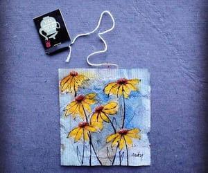 art, flower, and tea image