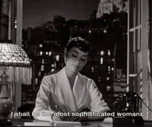 audrey hepburn, black and white, and movie image