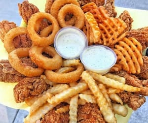Chicken, food, and French Fries image