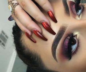 beauty, eye makeup, and fashion image
