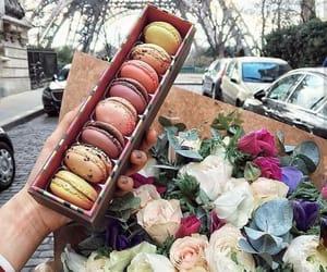 flowers, food, and paris image