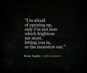 quotes, monster, and black image