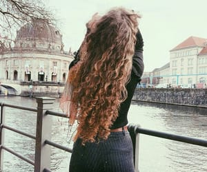 beauty, outfit, and curly hair image