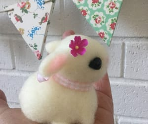 baby bunny, bunny, and handcrafted image