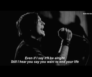 black and white, rock, and Lyrics image