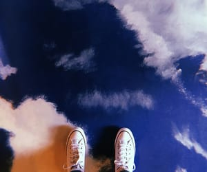clouds, sky, and sneakers image