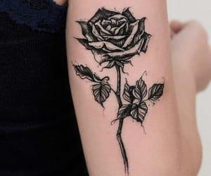 tattoo, rose, and art image